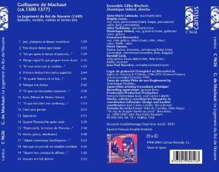 C 9626 GUILLAUME DE MACHAUT [9,99 Euros]