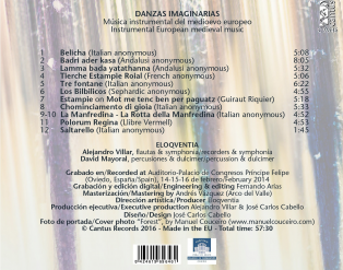 C 9646 DANZAS IMAGINARIAS: INSTRUMENTAL MEDIEVAL MUSIC [9,99 Euros]
