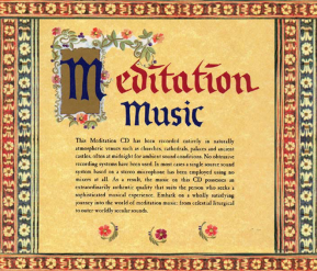 C 9501 MEDITATION MUSIC: 1000 YEARS OF MEDITATIVE MUSIC (only available as digital download and streaming)