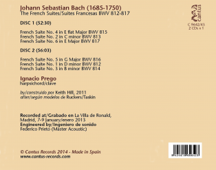 C 9642/43 J.S. BACH: THE FRENCH SUITES BWV 812-817 (2 CDs) [11,99 Euros]
