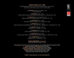 C 9629 JOSEPH HAYDN: LAS SIETE ÚLTIMAS PALABRAS DE CRISTO (Ms de Salamanca, ca. 1800) [9,99 Euros]
