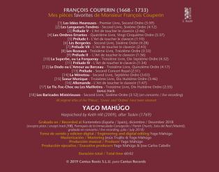 C 9639 FRANÇOIS COUPERIN: MES PIÈCES FAVORITES DE FRANÇOIS COUPERIN [9,99 Euros]