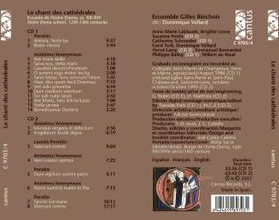 C 9703/4 LE CHANT DES CATHÉDRALES (Escuela de Notre Dame, ss. XII-XIV) (2 CDs) [11,99 Euros]