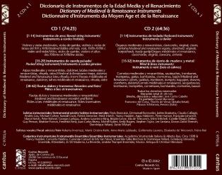 C 9705/6 DICCIONARIO DE INSTRUMENTOS MEDIEVALES Y RENACENTISTAS (2 CDs) [11,99 Euros]