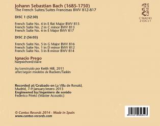 C 9642/43 J.S. BACH: LAS SUITES FRANCESAS BWV 812-817 (2 CDs) [11,99 Euros]