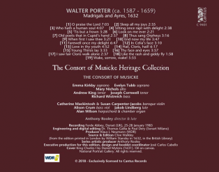 C 9401 WALTER PORTER: MADRIGALES AND AYRES, 1632 [9,99 Euros]