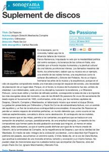 Sonograma De Passione